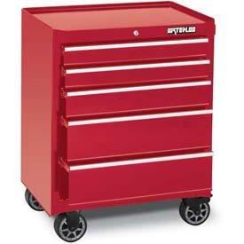 """Waterloo 26"""" 5-Drawer Tool Cabinet With Upgraded Casters, Red (Wca-265Rd-C"""