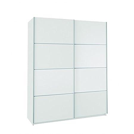 Armario 2 puertas correderas 180x220 grande, para dormitorios, color blanco