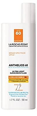 La Roche-Posay Anthelios 60 Ultra-Light Facial Sunscreen Fluid, Water Resistant with SPF 60, 1.7 Fl. Oz.