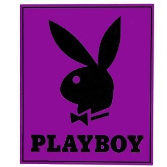 Classic Purple Playboy Bunny Head with Tuxedo Blanket Throw