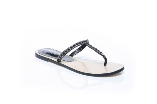 Cheap Unze Women Fancy Beads Crystal Thong Flat Summer Party, Evening, Wedding Slipper – Ab-3224 (B007V9XGAY)