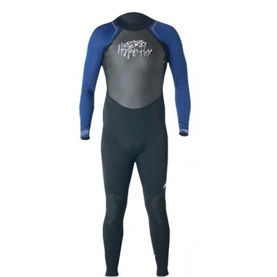 Hyperflex Wetsuits Girls' Access 3/2mm Full Suit, Black/Blue, 16 - Surfing, Windsurfing & Wakeboarding