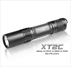Klarus XT2C Tactical LED Torch (2 x CR123)