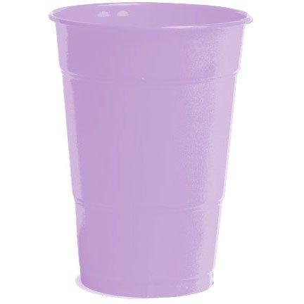 16 oz plst cup 20 ct-lavender