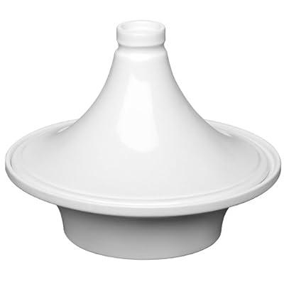 White Colour Large Size OvenLove Tagine Made of Elegant Stoneware