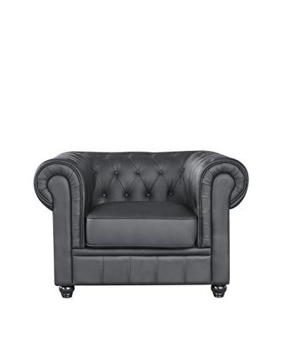 Manhattan Living Chestfield Chair, Black