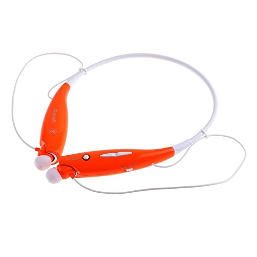 Hv-800 Wireless Bluetooth Music Stereo Universal Headset Headphone Vibration Neckband Style For Iphone Ipad Samsung (Orange)