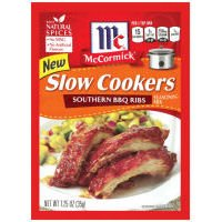 Mccormick Slow Cookers Southern BBQ Ribs Seasoning Mix, 1.25 Oz