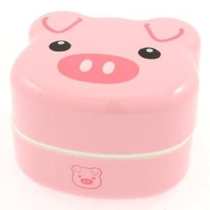 Kotobuki 2-Tiered Bento Box, Piggy