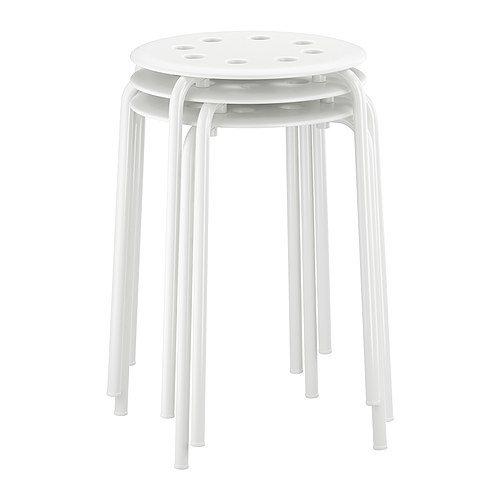 IKEA MARIUS - Taburete, blanco