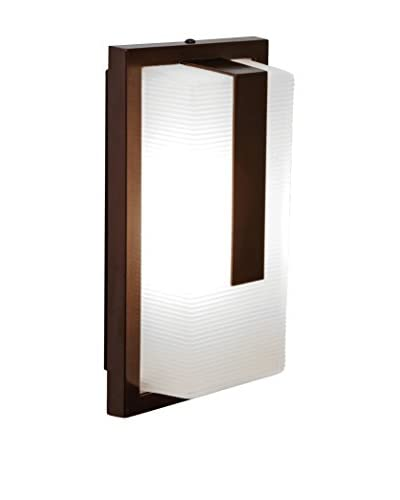 Access Lighting Neptune 13″ LED 1-Light Wet Location Wall Fixture, Bronze/Ribbed Frosted