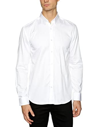 Selected Homme - Chemise business Homme Marvin Shirt LS S T - Blanc - Blanc - X-Large