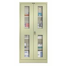 800 Series 2 Door Storage Cabinet Color: Parchment