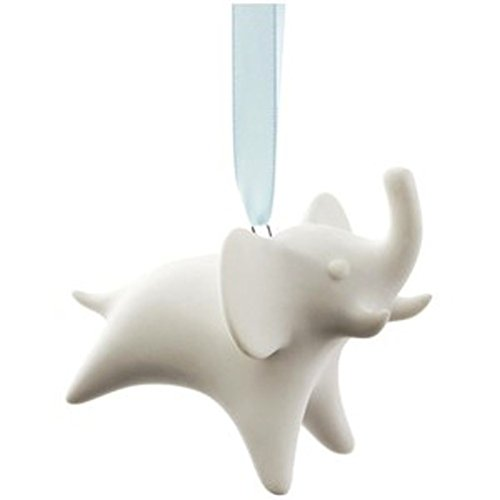 Jonathan Adler White Christmas Tree Hanging Ornament Elephant