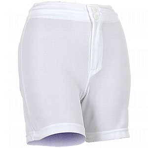 Wilson Ladies Low-Rise, Poly Doubleknit Softball Short (Large, White) by Wilson
