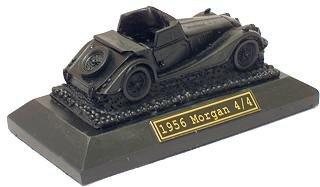 1956 Morgan 4/4 Model On Plinth - Hand Crafted Coal Model