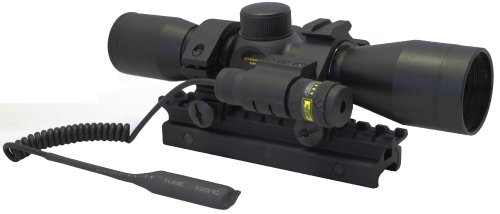 Tactical Scope Rings 4x30 Compact Rifle Scope UTG Red Laser