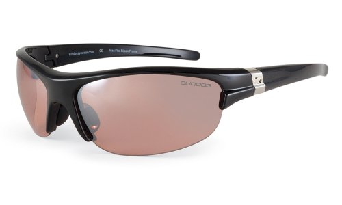 Sundog Torque Sunglasses with Black Frame and Lotus Flash Mirror Lens
