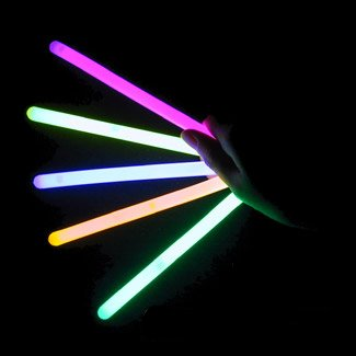 "4"" Lumistick Glow Stick Light Sticks Mixed Colors (Tube of 25)"
