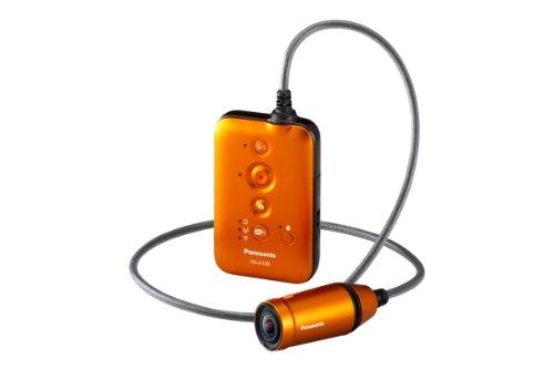 Panasonic HX-A100E-D tragbare Mini-Kamera für Sport (5,3 Megapixel BSI-Sensor, WiFi, USB 2.0, bis 1,5 m wasserdicht) orange