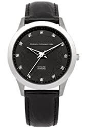 FCUK Women Leather Watch FC1136B French Connection Diamond Watch