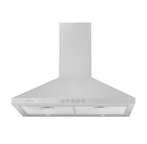Zuhne Ventus 30 inch Kitchen Wall Mount Vented/ Ductless Stainless Steel Range Hood or Stove Vent with Energy Saving Touch Control & LED Lights (Kitchen Stove Range Hood compare prices)