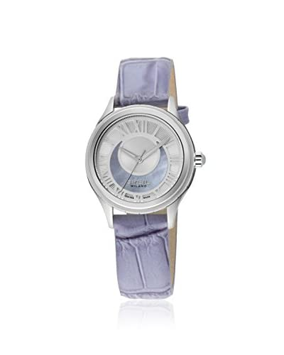 Breil Women's 939 BW0569 Crescent Moon Lilac/Mother of Pearl Leather Watch As You See