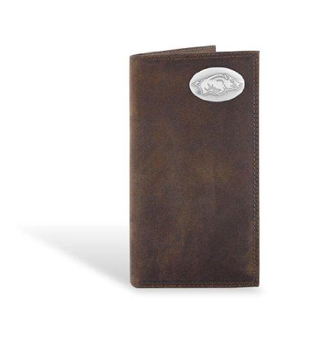Arkansas Leather Crazy Horse Brown Long Roper Wallet