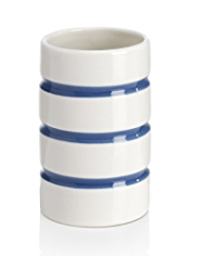 Ceramic Cylindrical Striped Tumbler