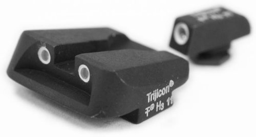 Trijicon 3 Dot Night Sight Set, Green Front & Yellow Novak Rear - Glock Pistol - Gl11Y