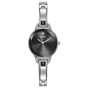 Citizen Women's EX1320-54E Silhouette Bangle Analog Display Japanese Quartz Silver Watch