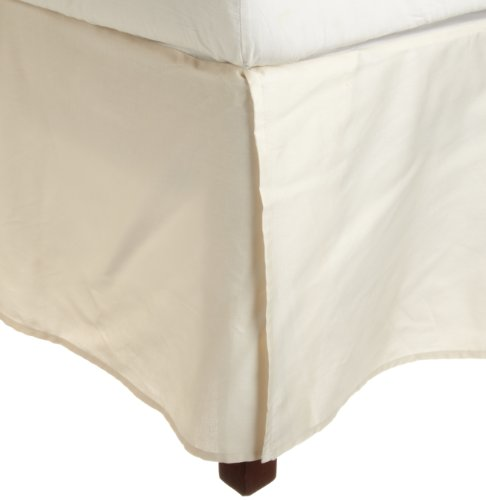 Impressions Genuine Egyptian Cotton 300 Thread Count Pleated King Bed Skirt Solid, Ivory front-905821