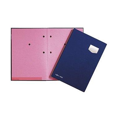 Pagna Unterschriftsmappe de Luxe 10-teilig, mit hochwertigem Kunststoff-Einband dehnbarem Rücken, rosa Löschkarton