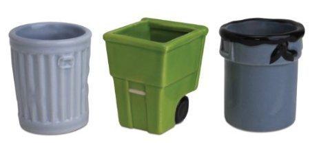 Big Mouth Toys Get Trashed 3-Pack Trash Can Shot Glasses, Assorted Set