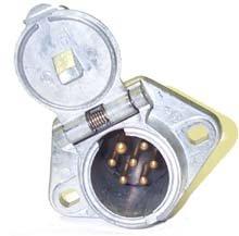 7 Way Trailer Socket & Plug Connector Receptacle Hd