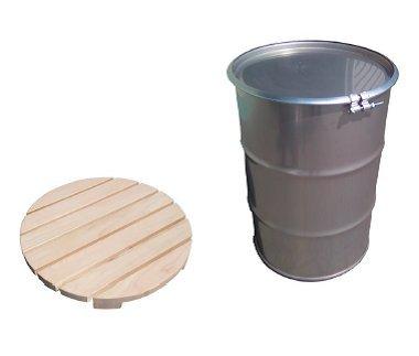 ドラム缶風呂セット 新品ステンレス製ドラム缶・新品すのこ付 200L