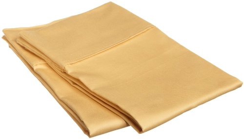 Impressions 1500 Series Wrinkle Resistant King Pillowcase Pair Solid, Gold front-536811