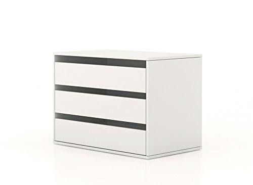 Cassettiera interna armadio bianco ct7172 l85h60p50 - Cassettiera interna per armadio ikea ...