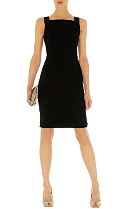 Minimal Crepe Shift Dress