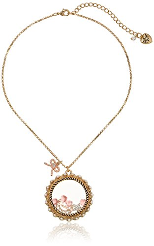 Betsey Johnson Shaky Moon Multi-Charm Pendant Necklace
