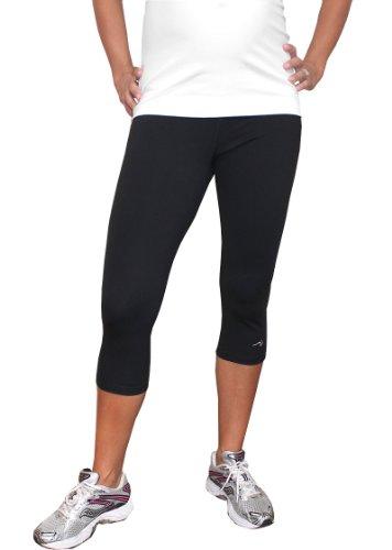 Impact Fitness - Momentum Capri Maternity-Large (Black)