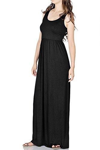 Beachcoco Women's Maxi Tank Dress (L, Black) (Tank Maxi Dresses For Women compare prices)