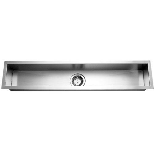 Houzer CTB 4285 1 Contempo Undermount Stainless Steel Trough Bar Or Prep  Sink,