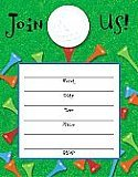 Tee Time Invite With Applique - 8/Pkg