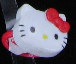 Japanese Sanrio Hello Kitty Stamp Ring (Red)