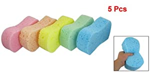 5 Pcs Assorted Color 8 Shape Cleaning Sponge Pad for Auto Cars