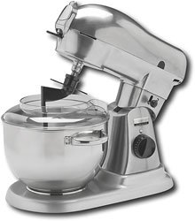 Wolfgang Puck WPPSM050 Direct Drive Stand Mixer with 6-Quart Stainless Steel Mixing Bowl from Wolfgang Puck