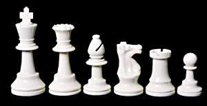 US Chess Federation's Triple Weighted Regulation Plastic Chessmen