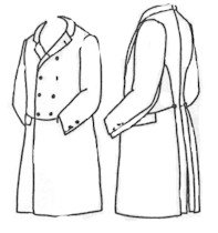 "Double Breasted Frockcoat Pattern - Size Small (34-38"")"
