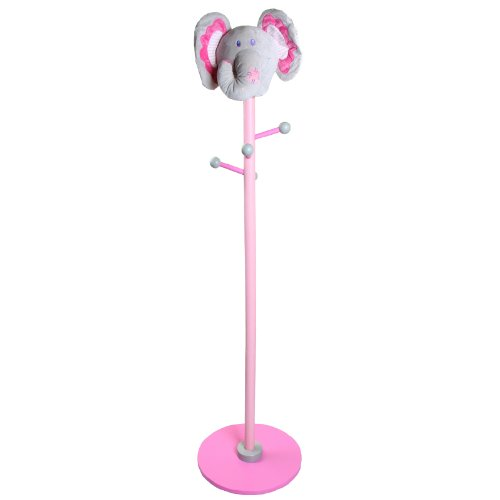 Hessie Kids Clothes Hanger - Pink Elephant front-968990